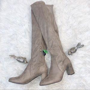 Liz Claiborne Leyla Fux Swede Over The Knee Boots